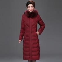 European style 2019 High Quality Winter Jacket Women X-long Fur Collar Hooded Female Plus Size 5XL 6XL Coat Warm Womens Parka