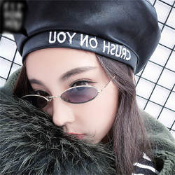 Тенденции Для женщин маленький овальные очки конфеты Цвета Для мужчин прозрачный красный объектив оттенки UV400 Велоспорт очки #2A12