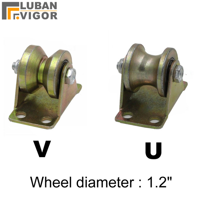 Factory outlets,1.2 inch Cast steel track wheel/pulley,Wire rope ...