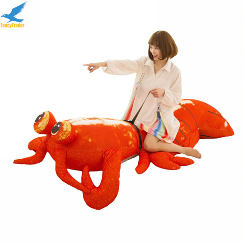Fancytrader Jumbo Pop Anime Mantis Shrimp Plush Toy Giant Stuffed Soft Simulated Sea Animals Lobster Doll for Adult and Children (3)