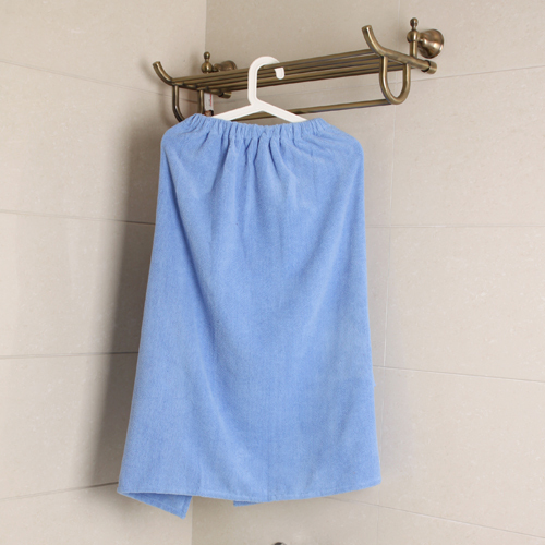 Bolk bathroom supplies blue bow ultrafine fiber tube top bath towel