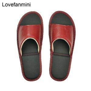 Image 3 - หนัง Sheepskin แท้รองเท้าแตะคู่ Indoor Non SLIP ผู้ชายผู้หญิงหน้าแรกแฟชั่นแบบสบายๆรองเท้าเดี่ยว PVCsoft soles ฤดูใบไม้ผลิฤดูร้อน