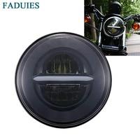 For Harley Street 500 XG500 Iron 883 Low XL883 Dyna Sportsters V Rod Night Rod FLSTSE 5 3/4 Headlamp 5.75 Inch LED Headlight