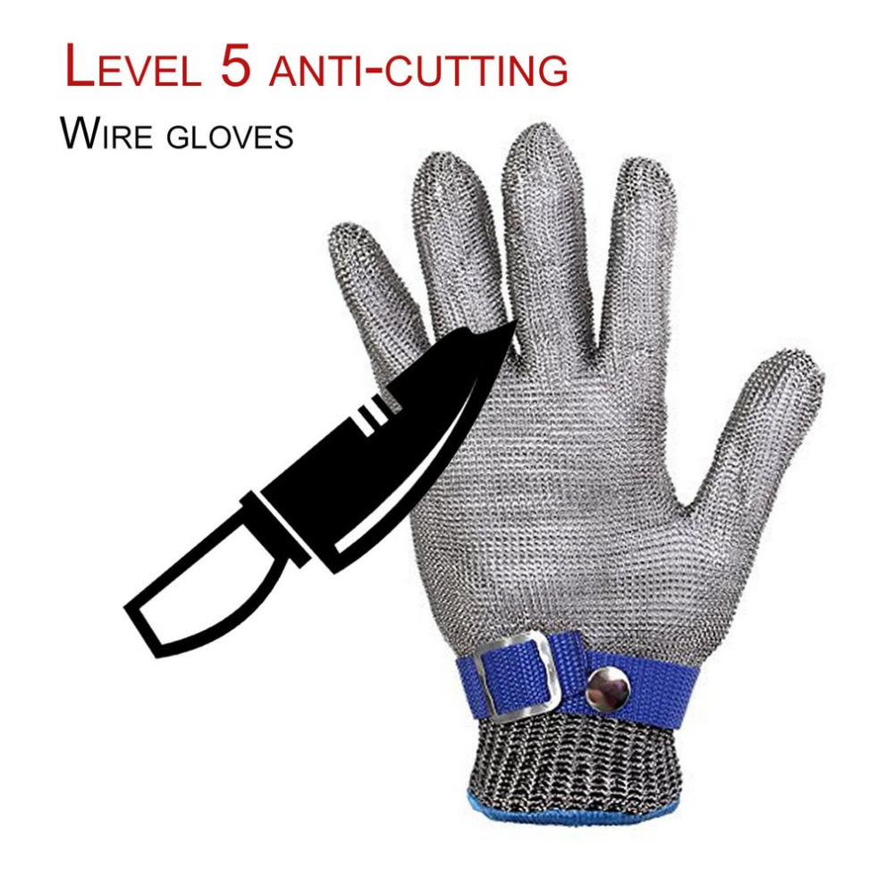 Safety Gloves Breathable Comfortable Safety Cut Proof Stab Resistant Stainless Steel Metal Mesh Gloves Anti-cutting Work Gloves 10 pair safety cut proof stab resistant stainless steel wire metal mesh butcher gloves cut resistant working safety