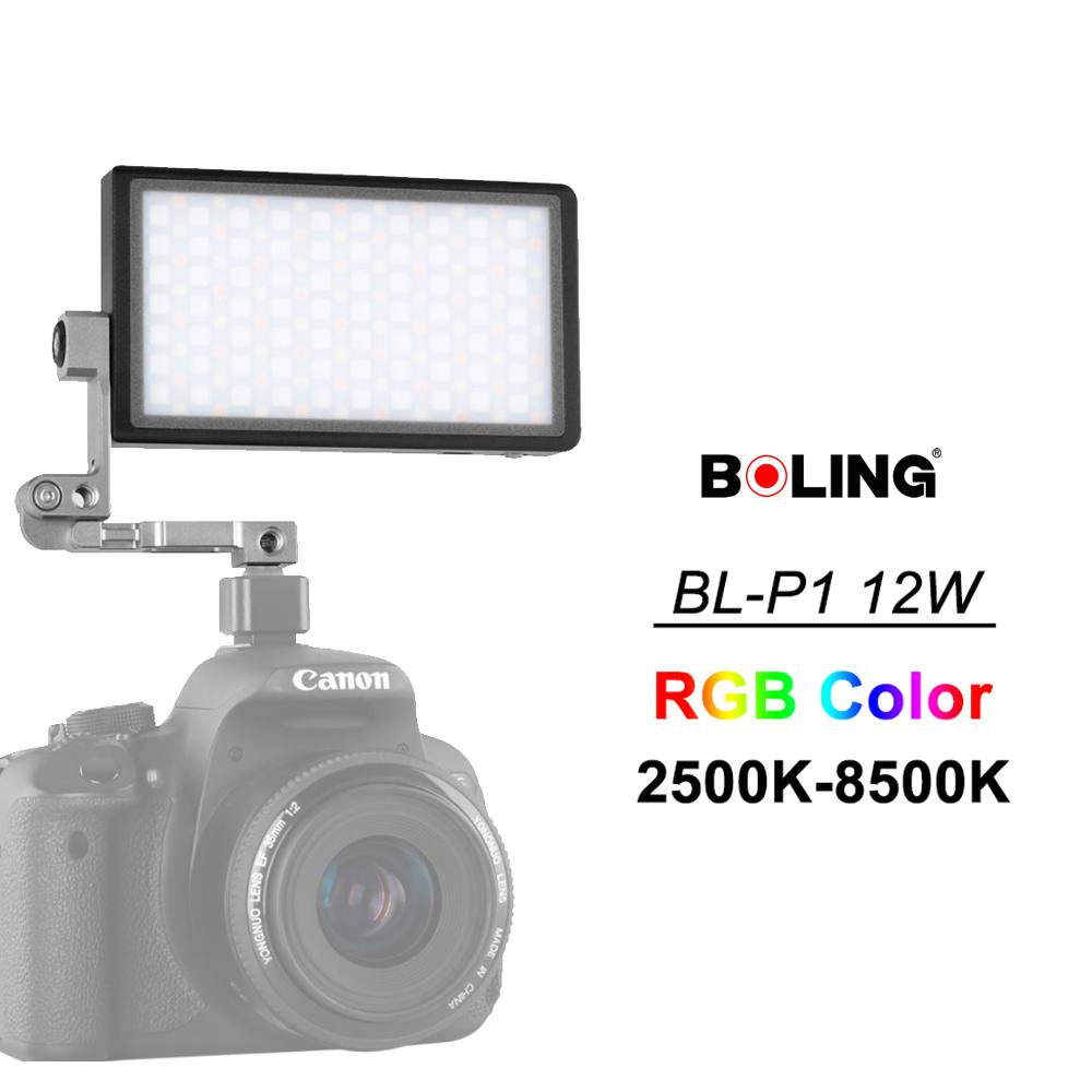 Boling BL P1 12W Photography Lighting with RGB Full Color Dimmable 2500K 8500K for DSLR Camera