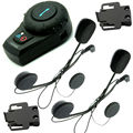 Free Shipping! 500M Motorcycle BT Bluetooth Multi Interphone Headset Helmet Intercom Handfree+Free Earpiece+Bracket