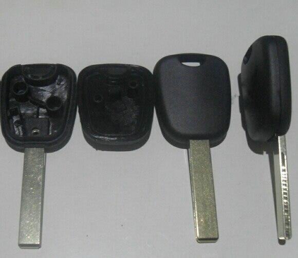 交換トランスポンダーキーシェルケース用シトロエンプジョーhu83ブレード(ロゴなし) fobキーカバー10ピース/ロット