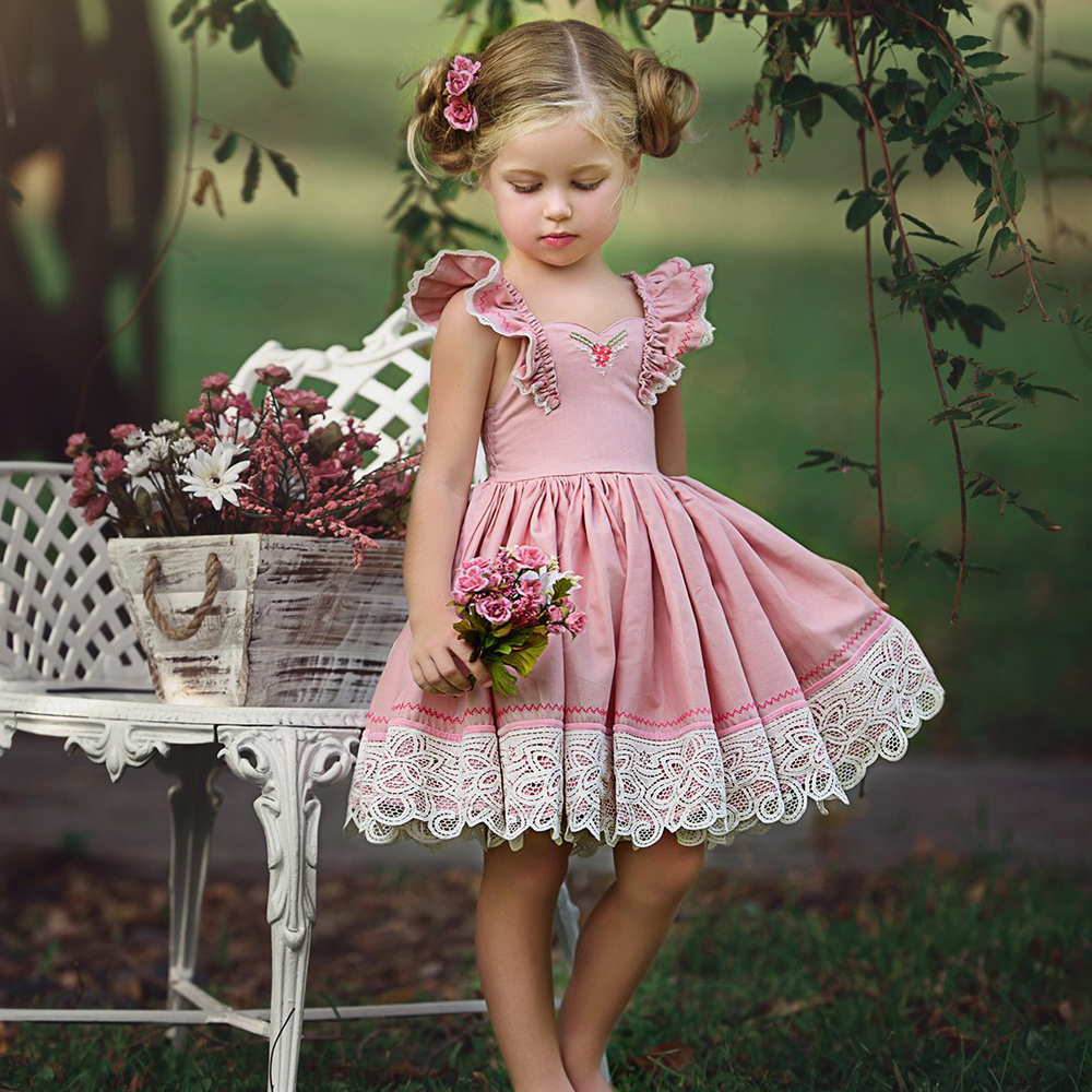 Kids Baby   Flower     Girls     Dresses   Pageant Birthday Party Wedding Bridesmaid Gown