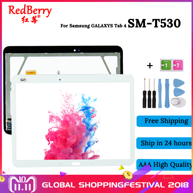 цена на Redberry LCD Display Monitor Panel + Touch Screen Sensor Panel Glass Digitizer For Samsung Galaxy Tab 4 SM-T530 T530 T531 T535