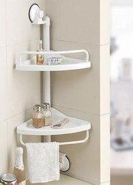 Double Decked kitchen corner shelf bathroom shelf sector tripod corner shelf