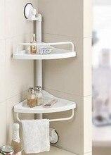 Doppel Decked küche eckregal badezimmer-regal sektor stativ eckregal