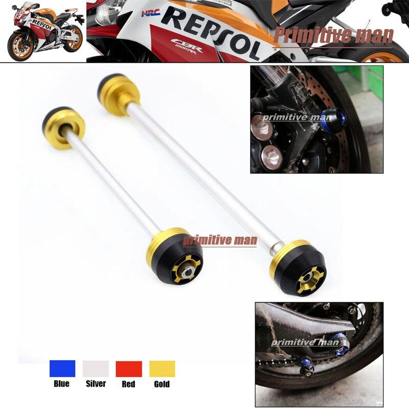 Para honda cbr600rr 2009-2012 accesorios de motos front & rear axle fork crash s