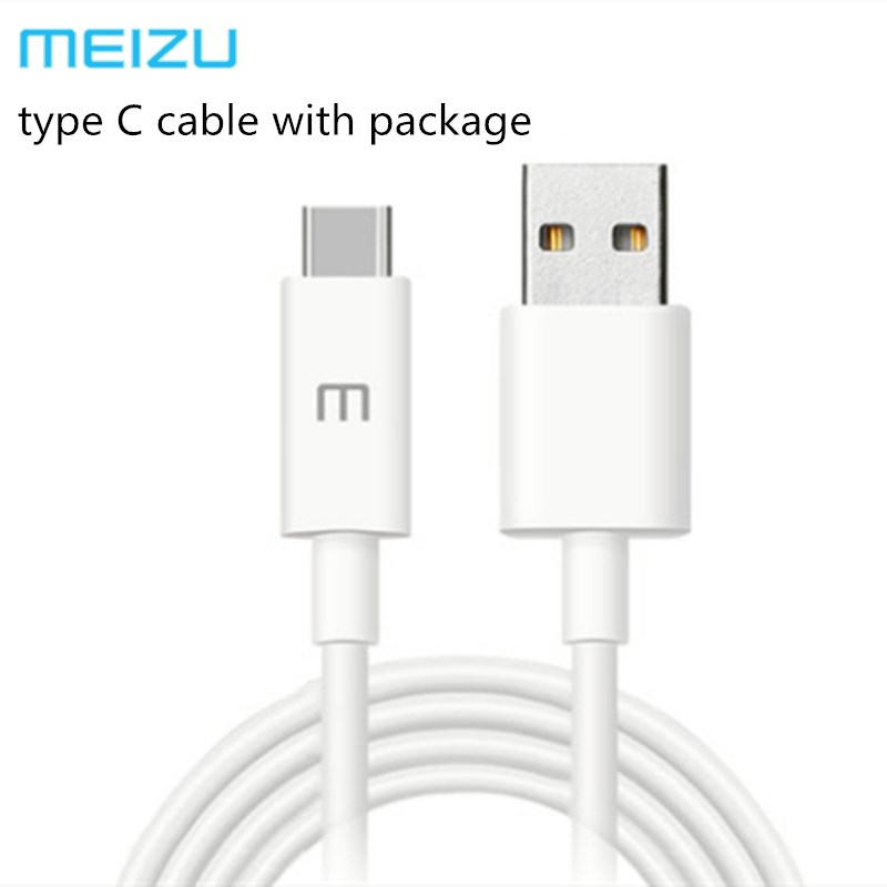 Original Meizu 16th type C cable 3A fast charging line for Meizu NOTE 9 16 16S 15 MX6 MX7 PRO 5 6 7 Plus M3X ME3 & package &logo