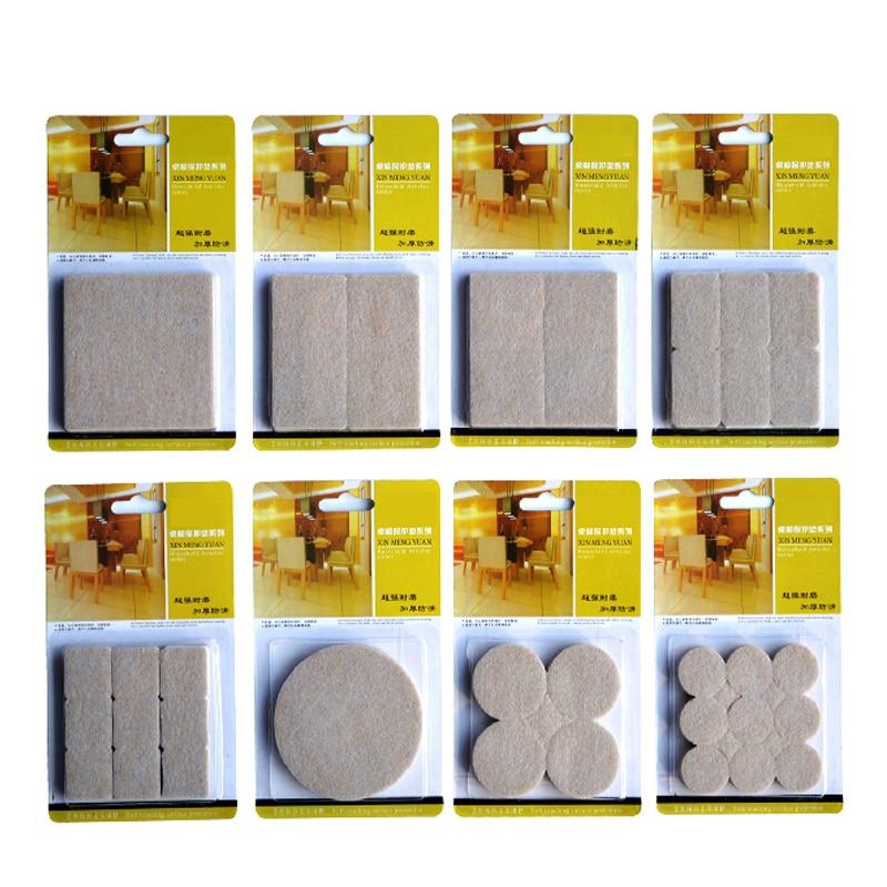 2-32PCS Self Adhesive Mat Table Chair Round Furniture Leg Pads Protector Feet Floor Square Slip Mats Bumper Home Hardware