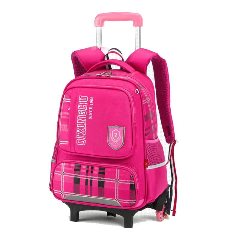 Trolley Schoolbag 2 Wheel Luggage Bag Larger Capacity Backpack For Teenager Boys And Girls Rolling Bag Students School Backpack