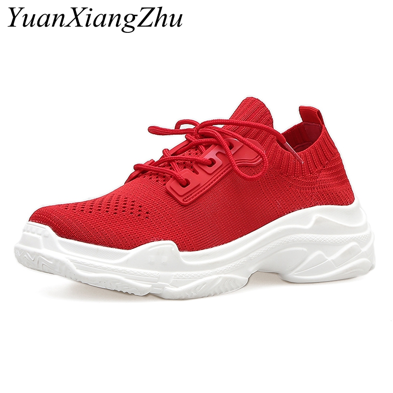 Women's mesh casual shoes 2018 summer new ins Harajuku style wind breathable mesh Korean wild old shoes platform platform shoes 2017 new summer zapato women breathable mesh zapatillas shoes for women network soft casual shoes wild flats casual shoes