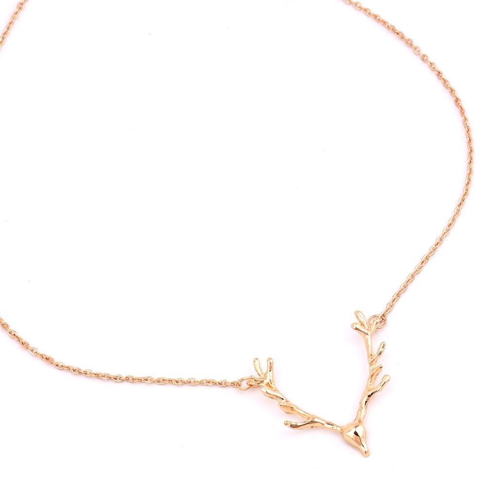 Joyas de moda alces ciervos astas collar colgante de regalo para las - Bisutería - foto 5