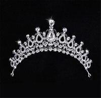 Shinny cristal de mariée mariage Head Piece Mariée Chapeaux Bandeau Bande De Cheveux 100% Fait Main femmes Parti Bijoux Accessoires