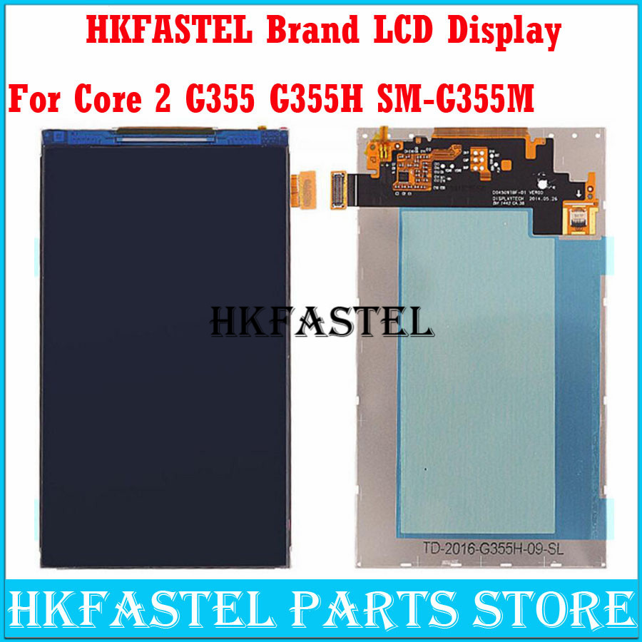 HKFASTEL Brand Original LCD For Samsung Galaxy Core II Core 2 G355 <font><b>G355H</b></font> SM-G355M Mobile Phone LCD Screen Digitizer <font><b>Display</b></font> image