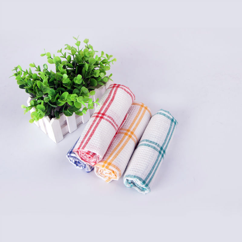 Qf116 Freeshipping Hot Sale Limited Stocked Scouring Pad Highly Recommend Cross Stripes 35cm 55cm 100 Cotton Kitchen Cloth in Cleaning Cloths from Home Garden