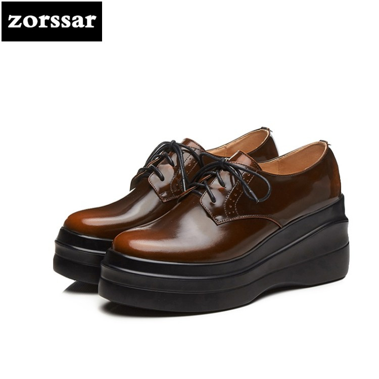 {Zorssar} Casual sneakers Women Shoes high heel pumps 2018 New fashion Wedges High heels Ladies Platform Creepers Shoes platform shoes high heels women shoes zapatos mujer lolita shoes women pumps 2018 new fashion ladies shoes fish head high heel