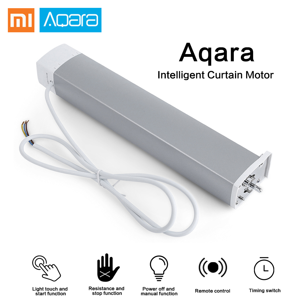 Xiaomi Aqara moteur de rideau Intelligent Zigbee Wifi Intelligent pour xiaomi dispositif de maison intelligente télécommande sans fil Via l'application mi maison