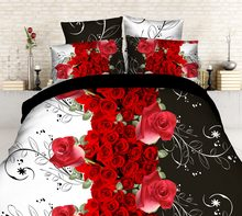 3D Crown Floral Duvet Cover Bedding Set Comforter Shell Bedclothes Queen Size 4Pcs(China)