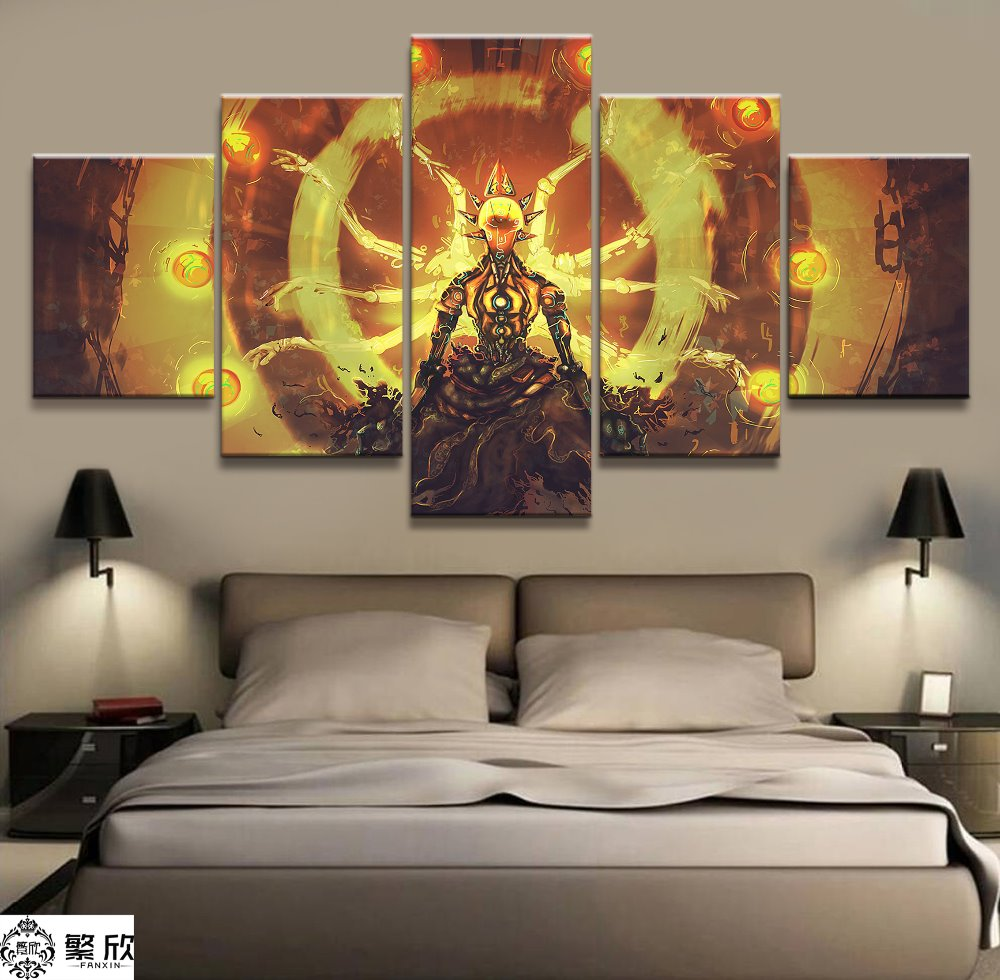 5 Panel Overwatch Zenyatta Game Canvas Printed Painting For Living Room Wall Art Home HD Decor Picture Artworks Modern Poster image