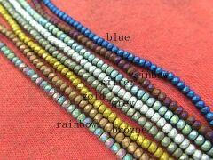 Batch 5strands Assorted Hematite Beads 3-10mm Roundelle Abacus Faceted brozne brass Silver Gold Gunmetal Hematite Jewelry Loose