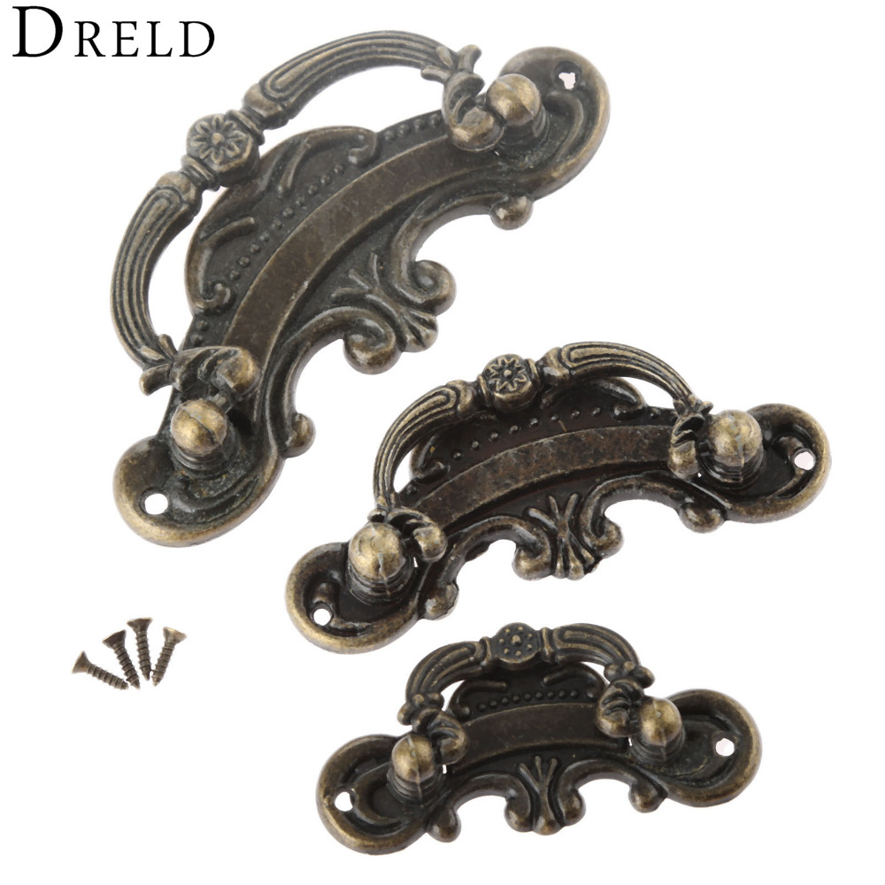 DRELD Antique Furniture Handle Vintage Drawer Cabinets Knobs and Handles Door Cupboard Handles Kitchen Pull Furniture Fittings dreld teapot antique furniture handle alloy drawer door knobs closet cupboard kitchen pull handle cabinet knobs and handles