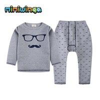 Kids Thermal Underwear Set Solid Children S Warm Suit Sports Fleece Clothes Baby Boys Girls Long