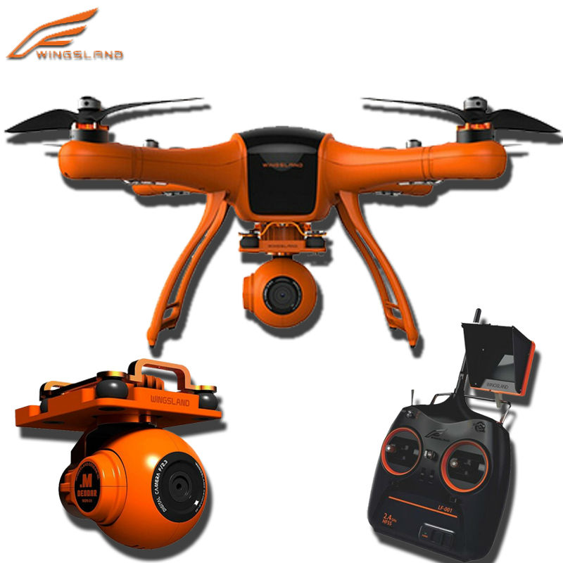 Professioal rc Drone Wingsland Scarlet Minivet FPV GPS with HD Camera 4CH 2.4G 6-Axis Gyro Auto Retrun Home VS Walkera QR X350
