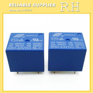 Image 2 - 50 ピース/ロットリレー SRD 03VDC SL C SRD 05VDC SL C SRD 06VDC SL C SRD 09VDC SL C 3 v 5 v 6 v 9 v 10A 250VAC 5PIN T73
