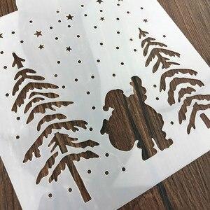 Image 3 - Boże narodzenie Tiramisu ciasto wzornik formy dekoracji formy do pieczenia malowanie ścian Album tłoczenie DIY Craft narzędzie