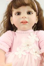 Newest 60cm Silicone reborn baby dolls accompany sleep reborn baby girl high-grade Christmas gift brinquedos for kids