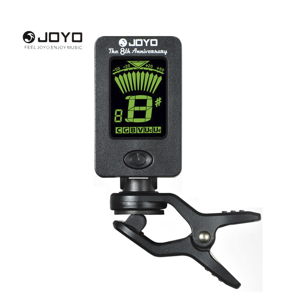 JOYO Mini LCD Clip-on Rotatable Guitar Clip Tuner for Chromatic Guitar Bass Violin Ukulele Guitar Accessories