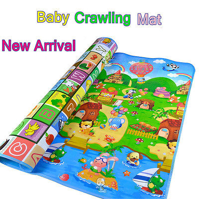 Cute Baby Kids Toddler Crawl Play Game Picnic Carpet Mat Letter Alphabet Farm Cartoon Mats