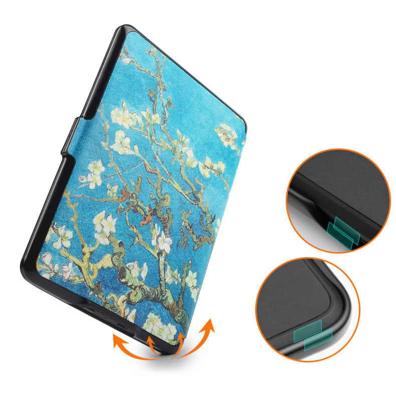 Harga Istimewa Case untuk Kindle Paperwhite Van Gogh Desain Kulit Sarung Kindlepaperwhite 2013 2015 2016 2017 6th Generasi