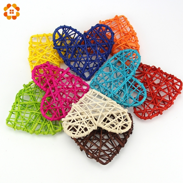 Us 334 26 Off10pcslot 10cm New Arrival Heart Sepak Takraw For Christmas Birthday Party Home Wedding Party Decoration Rattan Ball 10 Colors In