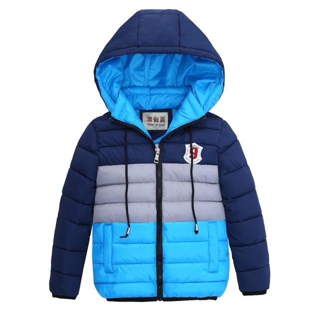 3-10Yrs Baby Girls Jacket boys Fashion Christmas coat Children down cotton boys winter Warm hooded jacket coat for girl