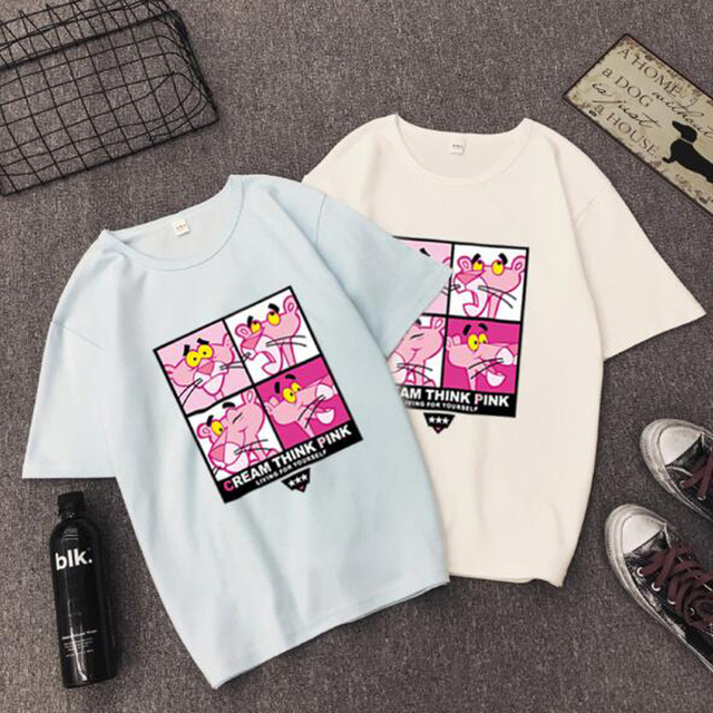 High Quality T shirt Woman Spring Summer Fashion Print Short Sleeve Round Neck Women Tops Casual Loose T-shirt Femme  4