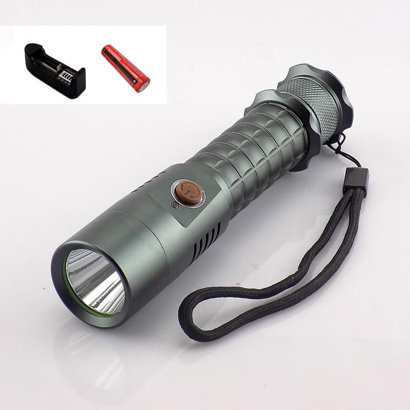 XPE Q5 Led Flashlight Torch Lamp Outdoor Lanterna Emergency Broke Flash Light Lampe Torche Usb Port + 18650 Batteries + Charger