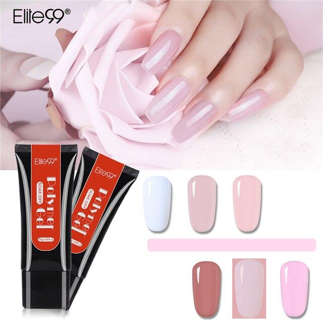 Elite99 Acryl Poly Verlängerung Gel Schnell Gebäude Gel Polnischen Klaren Rosa Nude Nagel Tipps Builder UV Gel Tipps Verbesserung Nagel kunst