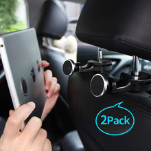 2pc/lot Tablet Holder Car Headrest hanger back seat magnetic phone Bracket for iPad tablet mobile Phone halterung