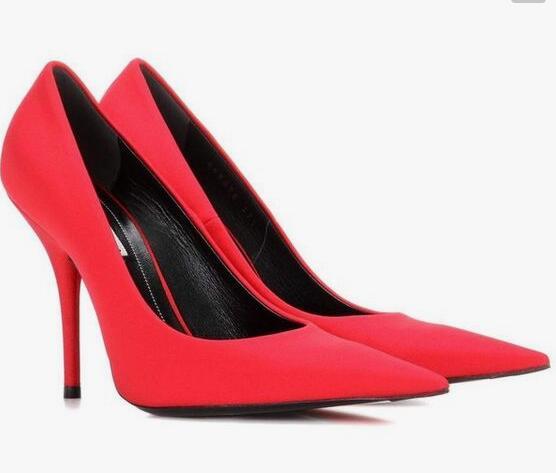 Для женщин атласные туфли лодочки зеленый фиолетовый обувь супер острый  носок и высокий каблук без шнуровки на шпильках знаменитости уличная  выглядит моды ... aa2cb1e7da9