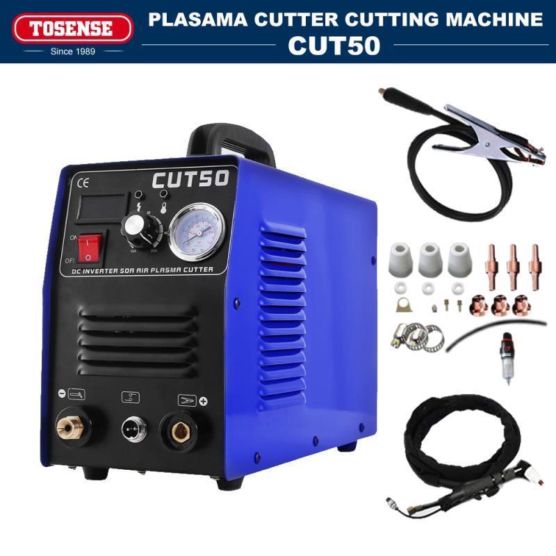 TOSENSE Plasma Cutting Machine & Inverter Control Plasma Cutter Hand Light High-Tech 110v / 220v Combined Machine CUT50