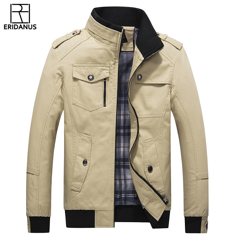 New Jacket Men Spring Autumn Casual Slim Fit Solid Jackets Simple Design Hot Sale 2017 Men's Fashion Overcoat Clothing M518