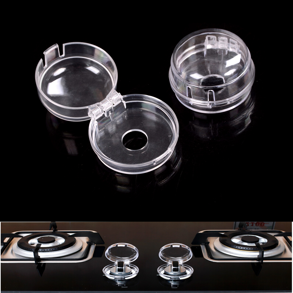 Kids Baby Gas Stove Switch Cover Locks Child Proof Oven Cooker Knob Clear Sleeve