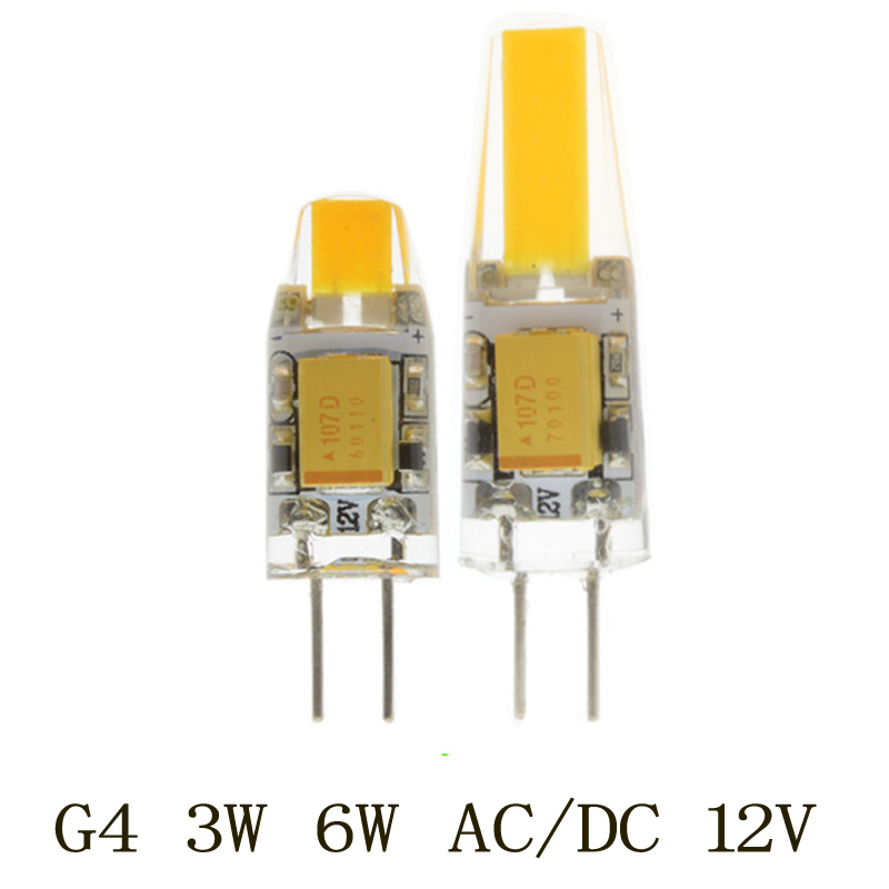 5PCS/lot LED G4  Lamp Bulb AC/DC 12V 3W 6W COB SMD LED Lighting Lights replace Halogen Spotlight Chandelier led g4 g9 lamp bulb ac dc dimming 12v 220v 6w 9w cob smd led lighting lights replace halogen spotlight chandelier