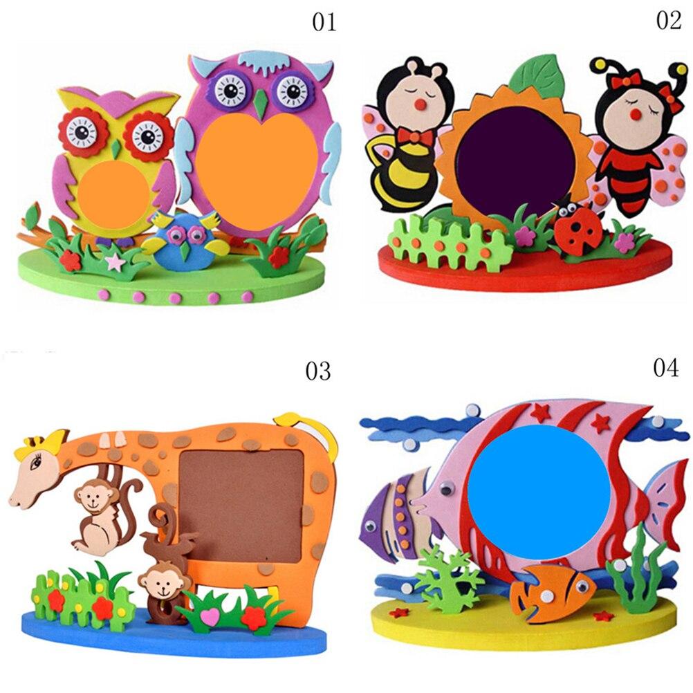 Frame Foam Craft Kits Easy Crafts EVA Sticky Sticker Animal Photo Frames Kids Child Creative Activity DIY Toys